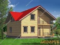 Проект дома из бруса 7х9